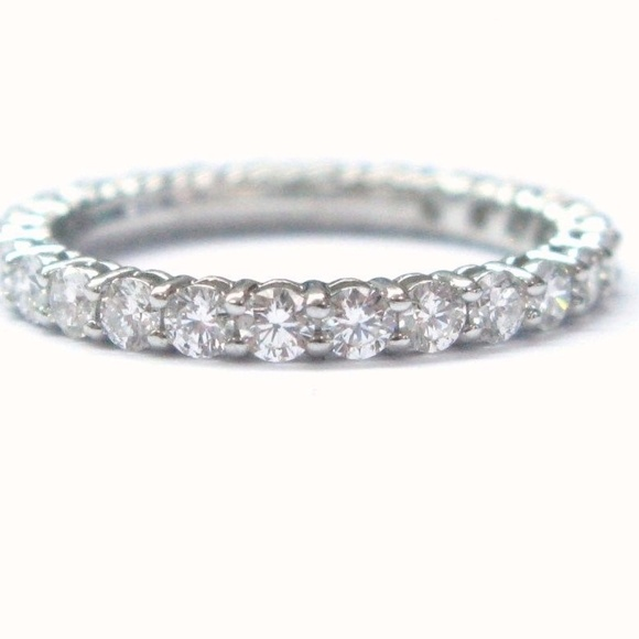 b5b2a7501 Tiffany & Co. Jewelry | Tiffany Co Platinum Diamond Shared Eternity ...